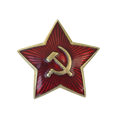 Sowjetunion Big Red Star Russian Abzeichen UdSSR Original 36mm