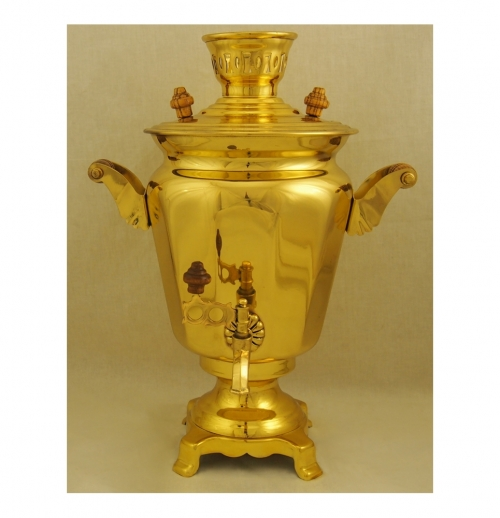 Samovar 4 liters with edges