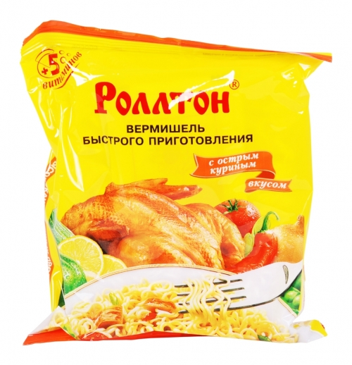 "Nudeln ""Rolton"" Huhn scharf 60g"